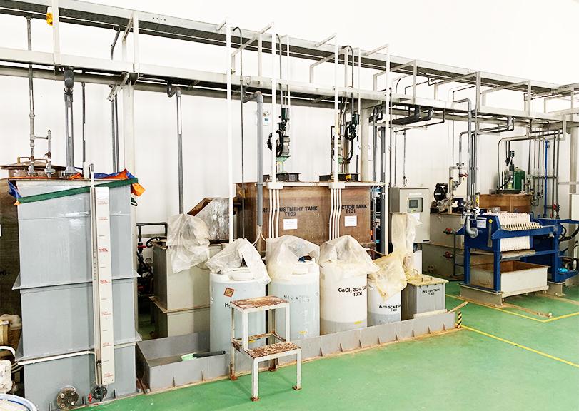 ベトナム工場排水処理設備